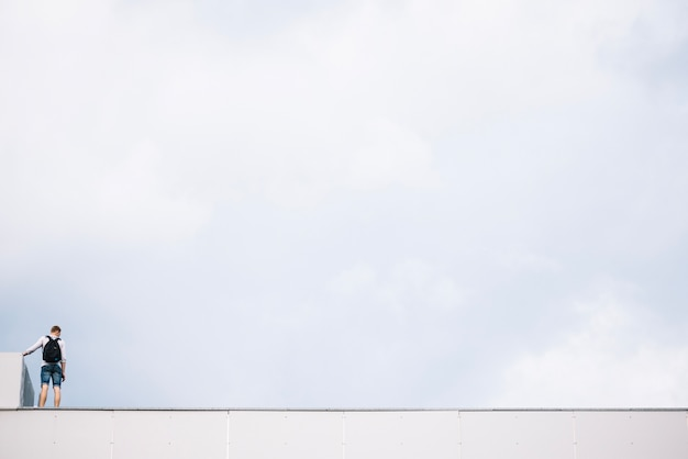 Person on roof