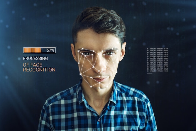 Personal identification method for face recognition via the polygon mesh
