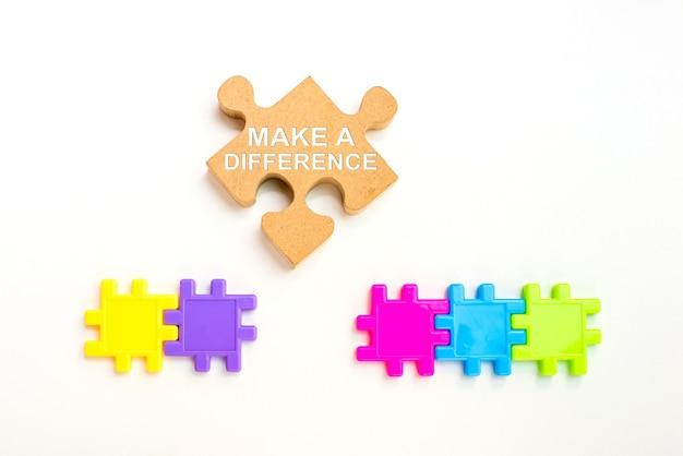 성공적인 개념을 위한 개인적인 변화. 사업 개발 및 개선. 긍정적인 차이.