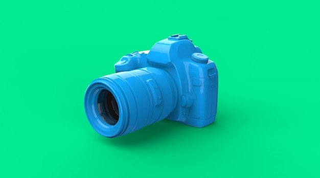 Perspective blue camera