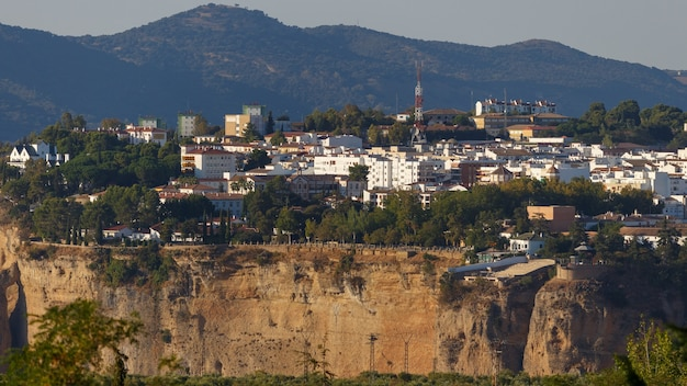 Perspective of the city of ronda and el tajo