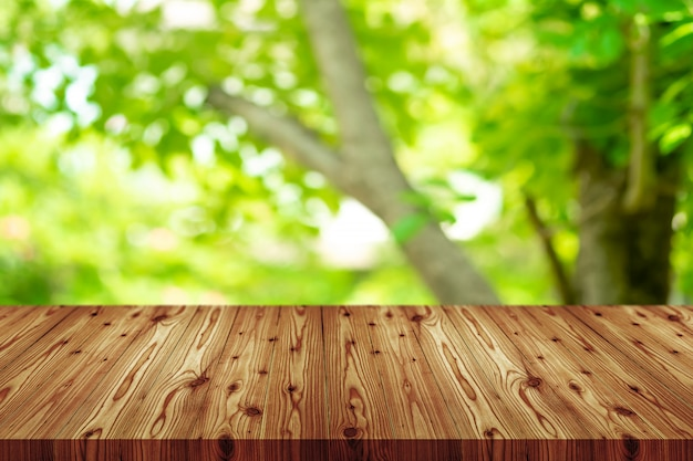 Perspective empty wooden table top background. including clipping path for product display montage or design layout.