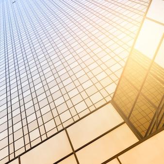 Перспектива офисного здания - архитектурный фон. тонированное изображение