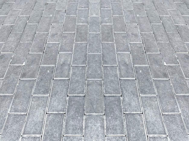 Perspective view of pavement floor background.