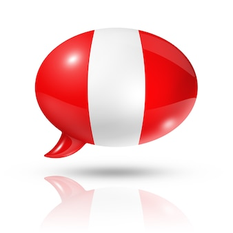 Перуанский флаг речи пузырь