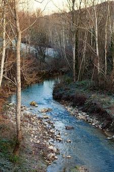 The pesa river runs through the town of sambuca tuscany.