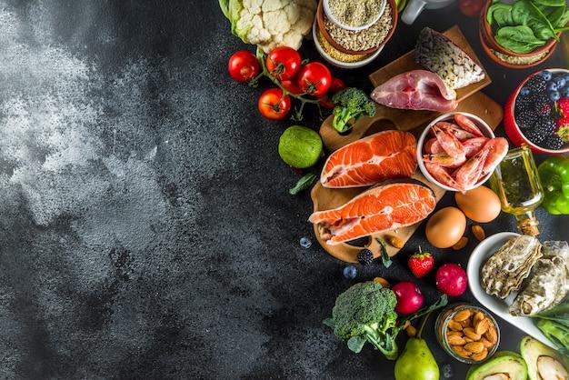 Ингредиенты для диетического плана pescetarian