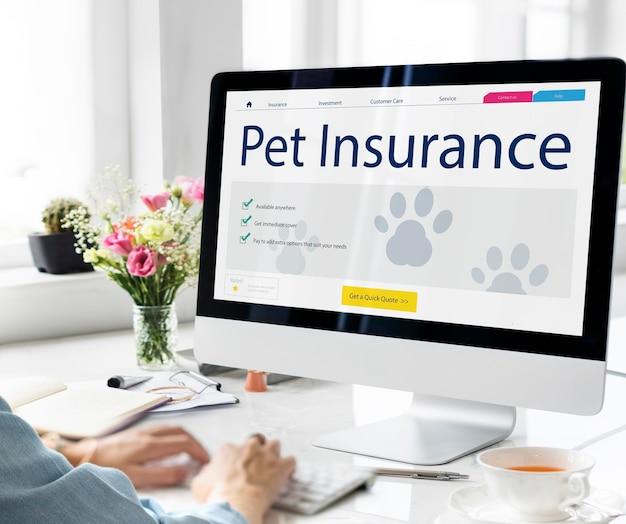 애완 동물 보험 관리 보장 개념