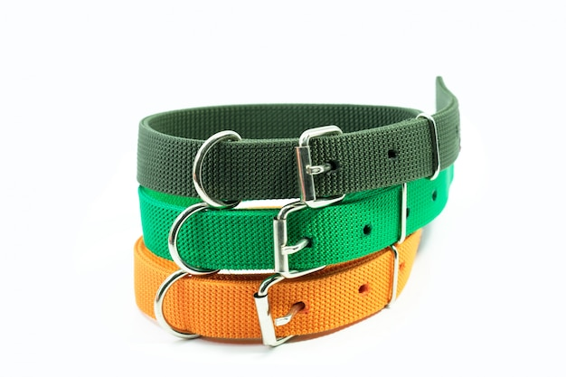 Pet supplies about collars stack for pet.