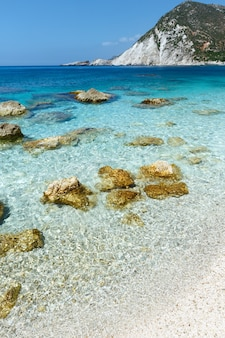 Petani 해변 여름보기 kefalonia, 그리스