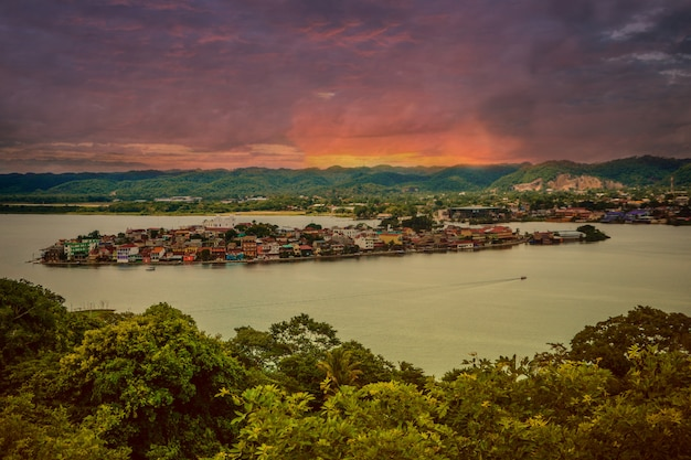 Peten island and lake, guatemala.