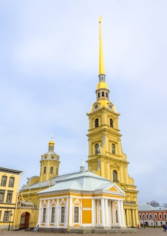 Peter and paul cathedral in saint petersburg, russia.