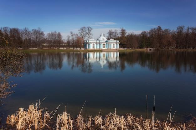 Peterhof palace in st. petersburg. sights of russia.