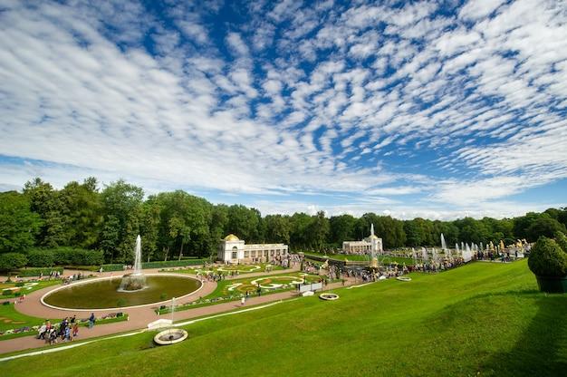 러시아 상트 페테르부르크의 피터 호프 공원