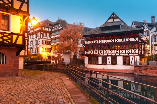 Petite france in the morning, strasbourg, alsace