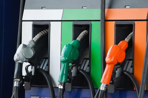 Petro pump refill nozzle,oil  pump at gasoline station