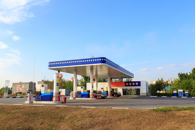 Petrol gas station station