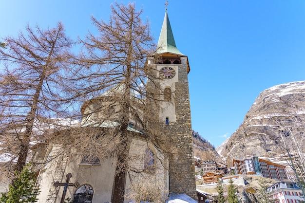 Pfarrkirche st. mauritius church, zermatt, switzerland