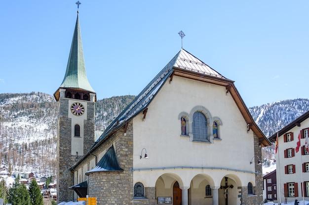 Pfarrkirche st. mauritius, zermatt, switzerland