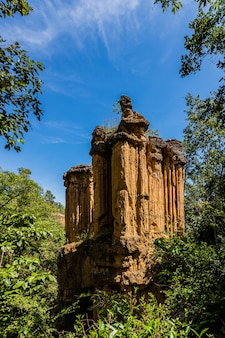 自然の芸術、タイ、チェンマイ県のpha chorグランドキャニオン