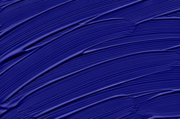 2020年のファントムブルーのトレンディな色。ブラシストロークで抽象芸術の背景。モノクロカラーテクスチャ。