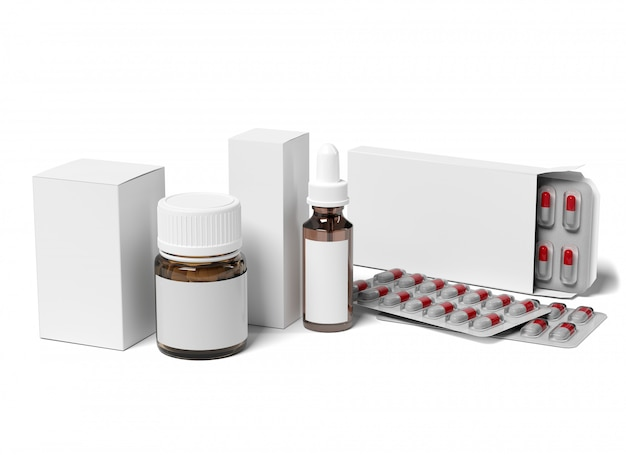 Pharmaceutical packaging  - 3d rendering