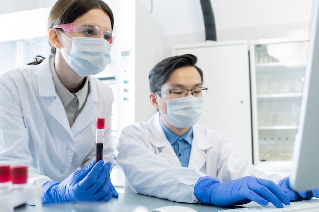 Pharmacologists working on vaccine