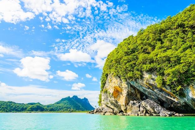 Остров лагуны phi таиланда рай