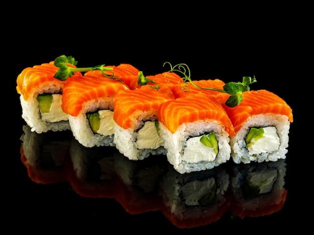 Philadelphia roll. set sushi roll.
