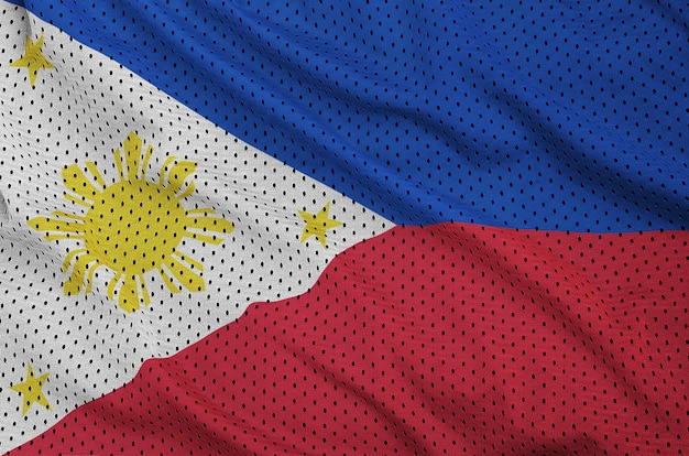 Philippines flag printed on a polyester nylon mesh
