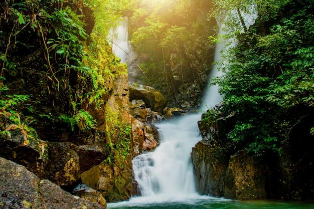 Phlio waterfall in namtok phlio national park