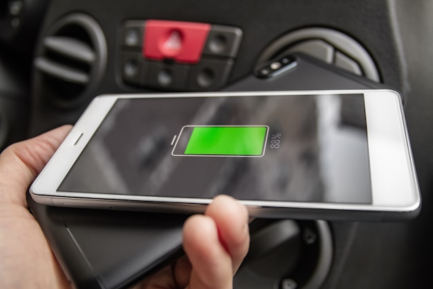 Phone battery wireless charge sharing technology