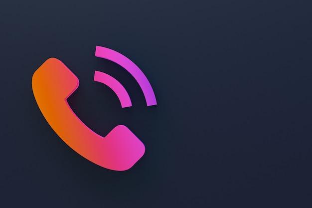 복사 공간 전화 통화 3d 디자인