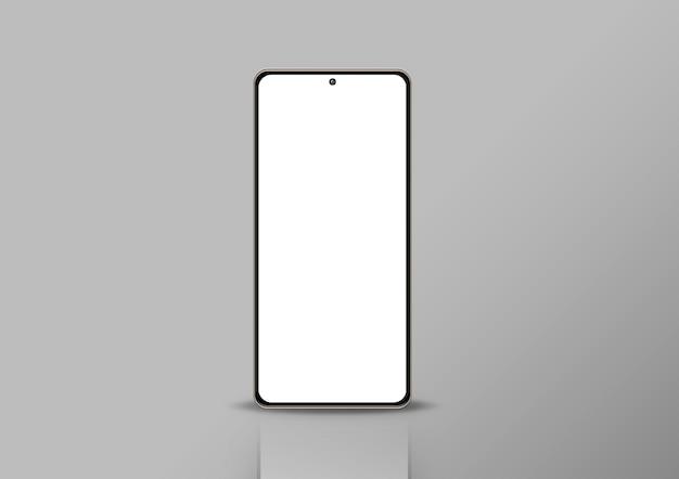 Telefono in sfondo grigio