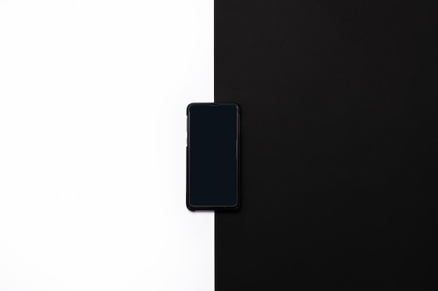 The phone isolated on white and black background.