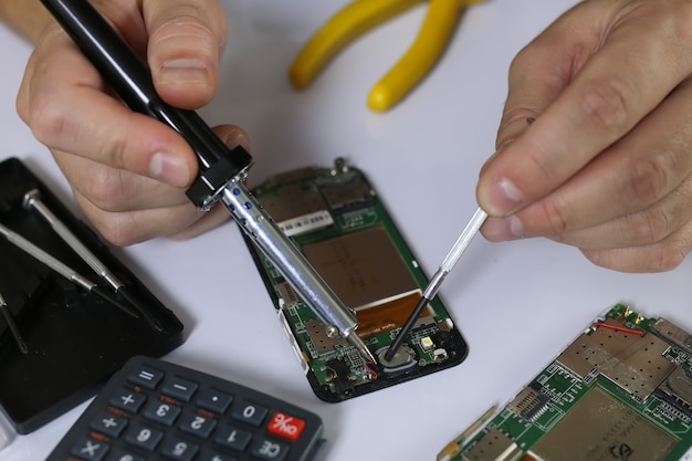 전화 수리 칩