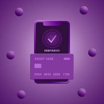 Телефонная транзакция с помощью кредитной карты