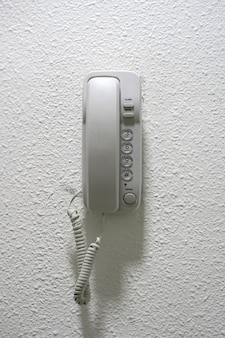 Phone on the wall