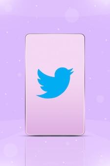 Телефон с логотипом instagram на экране 3d