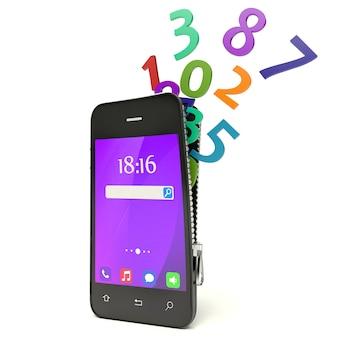 電話と番号のデザイン