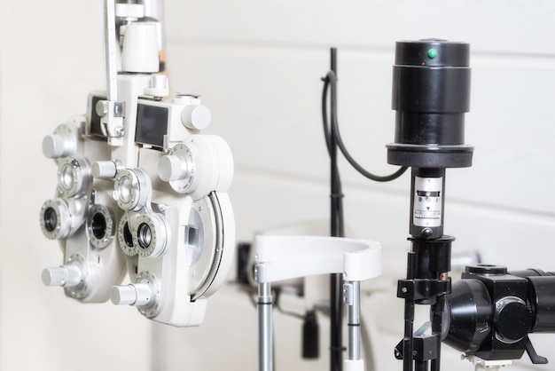 Phoropter, ophthalmic testing device machine.