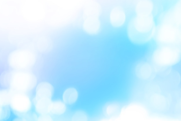 Photo bokeh isolated on blue color, background