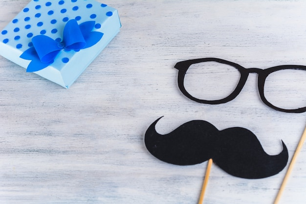 Photo booth mustache with space for your text