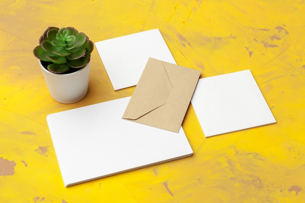 Photo of business cards. template for branding identity.