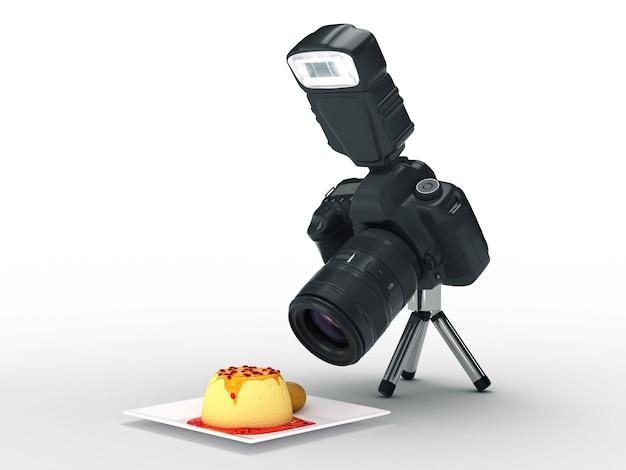 写真カメラと食べ物