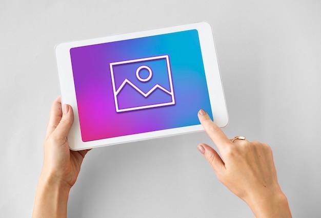 사진 카메라 크리에이 티브 디자인 아이콘