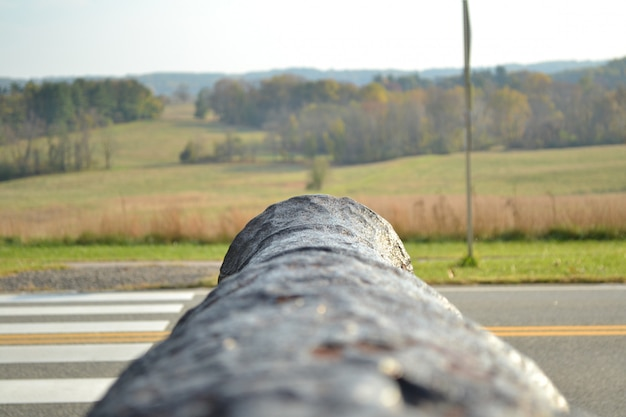 Photo of a cannon fall during the fall at valley forge, philadelphia, pa