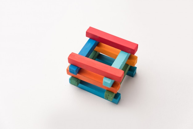 Photo of colorful chalks tower