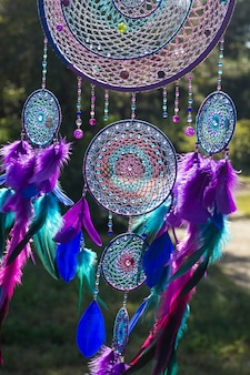 Photo of a dreamcatcher made by hand