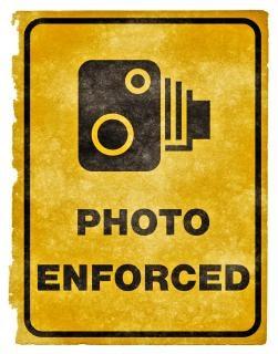 Photo enforced grunge sign  enforced
